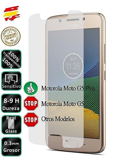 Movilrey Protector para Motorola Moto G5 5.0 Cristal Templado de ...