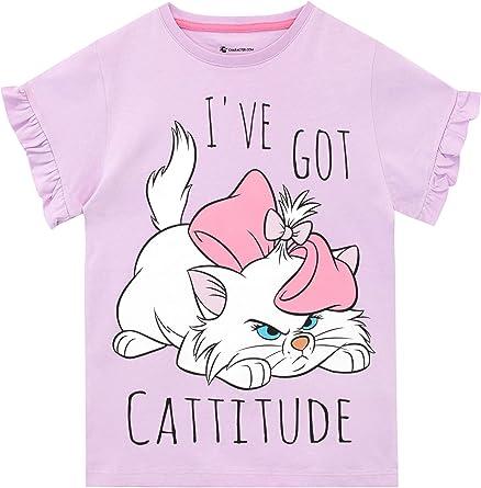 Disney Camiseta de Manga Corta para niñas Aristocats: Amazon.es ...