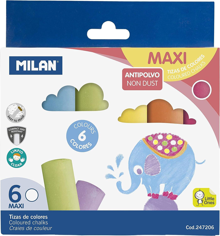 Milan 247206 - Pack de 6 tizas: Amazon.es: Oficina y papelería