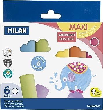 2 X 6 Pack de Color Tiza Anti Polvo de artesanía de arte