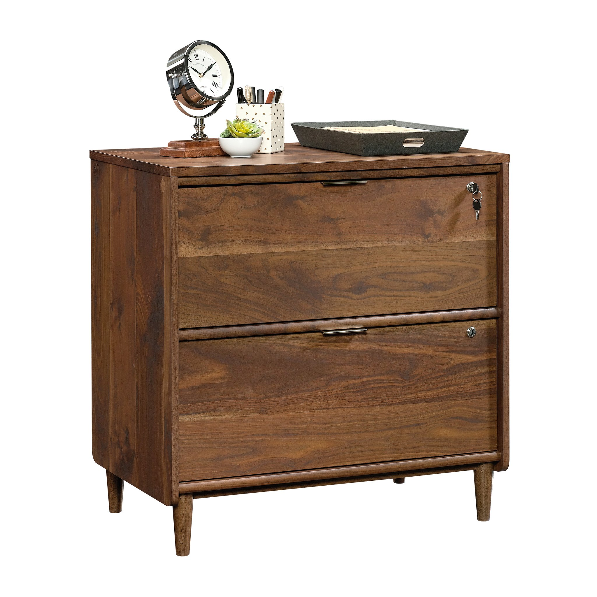 Sauder 421114 Clifford Place Lateral File, L: 29.53'' x W: 18.50'' x H: 30.28'', Grand Walnut finish