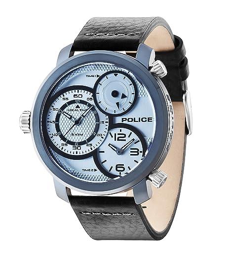 Police 14500XSUY04 Reloj , correa de cuero color negro