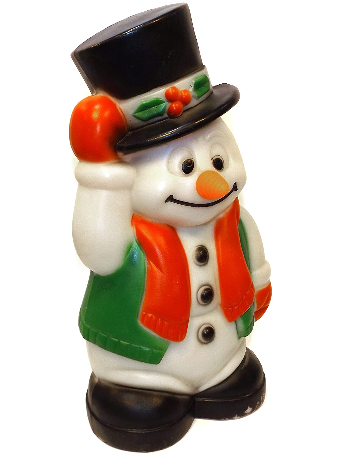 56cf40f7b4375 Amazon.com   Vintage Christmas Frosty Snowman w  Top Hat Blow Mold Light Up  Decoration   Everything Else