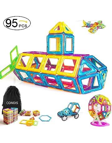 Condis 95 Piezas Bloques de Construcción Magnéticos para niños, Juegos de Viaje Construcciones Magneticas imanes