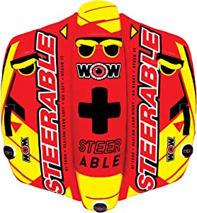 WOW Watersports Steerable 19-1090, 1 to 2 Person Towable Tube, Take Control of the Ride