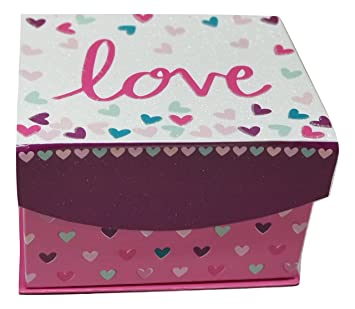 Amazon.com : Valentines Day Love Gift Box Set- Inludes Gift Box, Pink Teddy Bear Red Heart Bunch of Lollipops And Heart Shaped Box Of Chocolates : Beauty