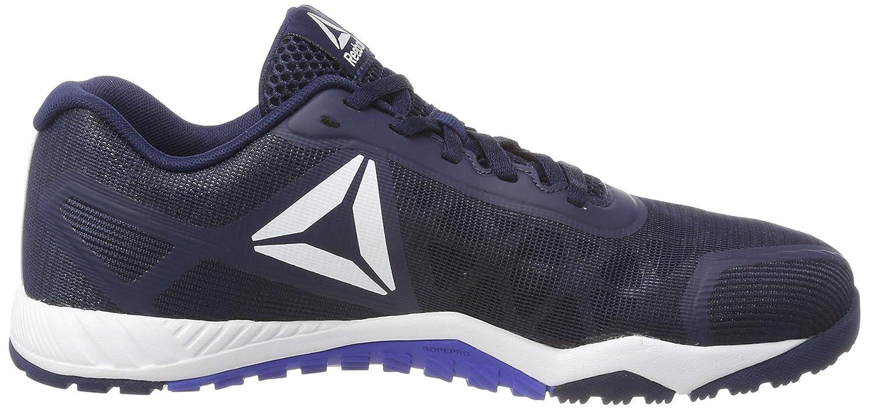 Reebok Ros Workout TR 2.0, Chaussures de Fitness Homme, Bleu (Collegiate Navy/White/Acid Blue 000), 42 EU