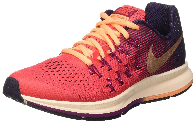 NIKE Zoom Pegasus 33 (GS) Running Trainers 834317 Sneakers Shoes B01CURV6H6 5 Big Kid M|Red