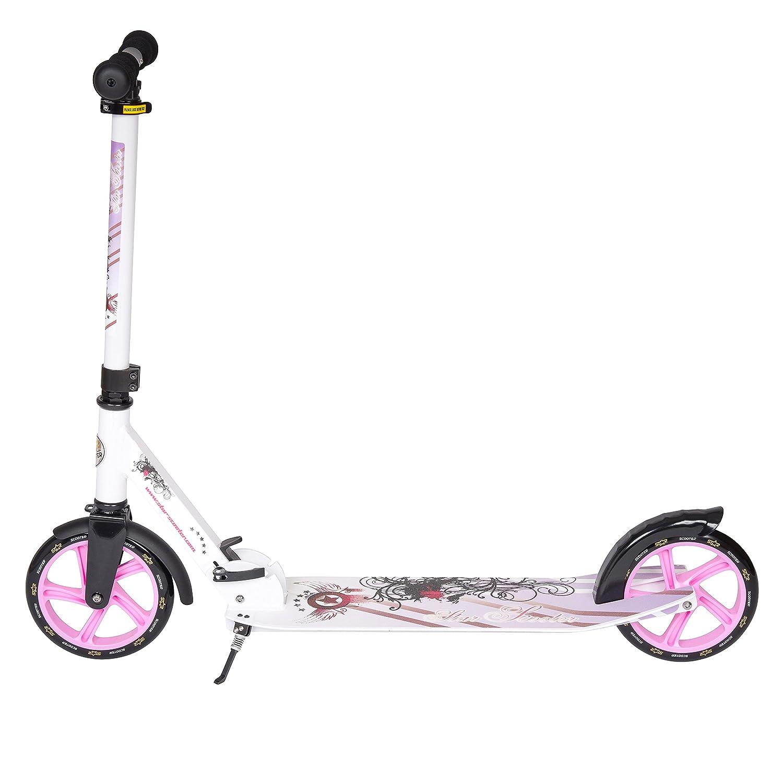 STAR-SCOOTER Patinete Patineta Scooter plegable XXL para niños y niñas a partir de 6-7 años y adultos para ciudad | 205 mm Edición mas ancha, ...