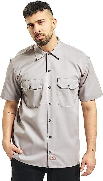 Dickies Hemd T-Shirt Oxford Herrenhemd Kurzarm SilverGrey