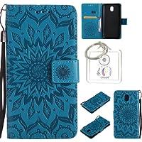 für Galaxy J5 2017 (EU-Modell) Hülle,Geprägte Muster Handy hülle/Tasche/Cover/Case für das Samsung Galaxy J5 2017 (EU-Modell) PU Leder Flip Cover Leder Hülle Standfunktion Kredit Kartenfächer (T)