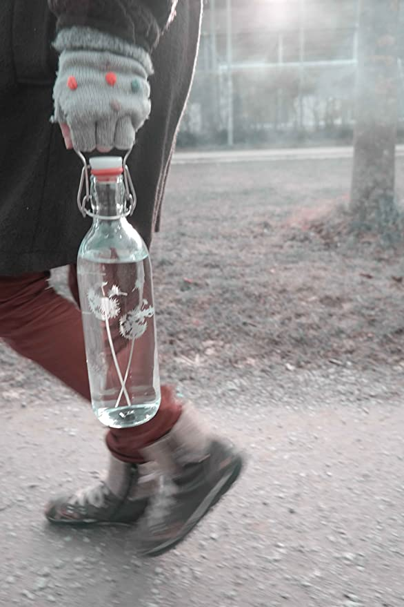 Freiglas 1,0l Botella de cristal * * Diente 100% Sin plástico, SOSTENIBLE, fabricado en Freiburg: Amazon.es: Hogar