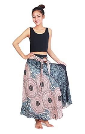 c44536dcd998 Chinrada Shop Women's Long Bohemian Boho Dress Style Gypsy Hippie Skirt. -  Black -