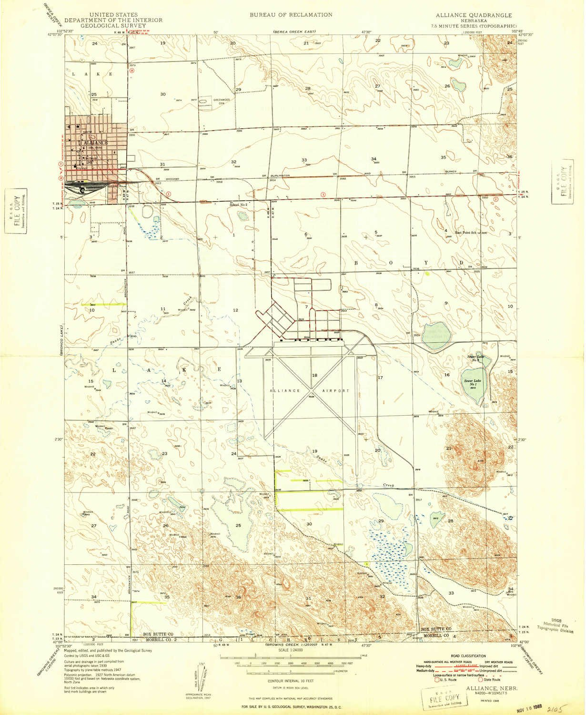 Amazon Com Yellowmaps Alliance Ne Topo Map 1 24000 Scale 7 5 X