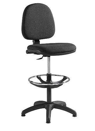 Blue Box Fabric Operator seating - Fabric Draughtsman Chair (WAR300G1-C) H910xW1180xD600 -  sc 1 st  Amazon UK & Blue Box Fabric Operator seating - Fabric Draughtsman Chair ...