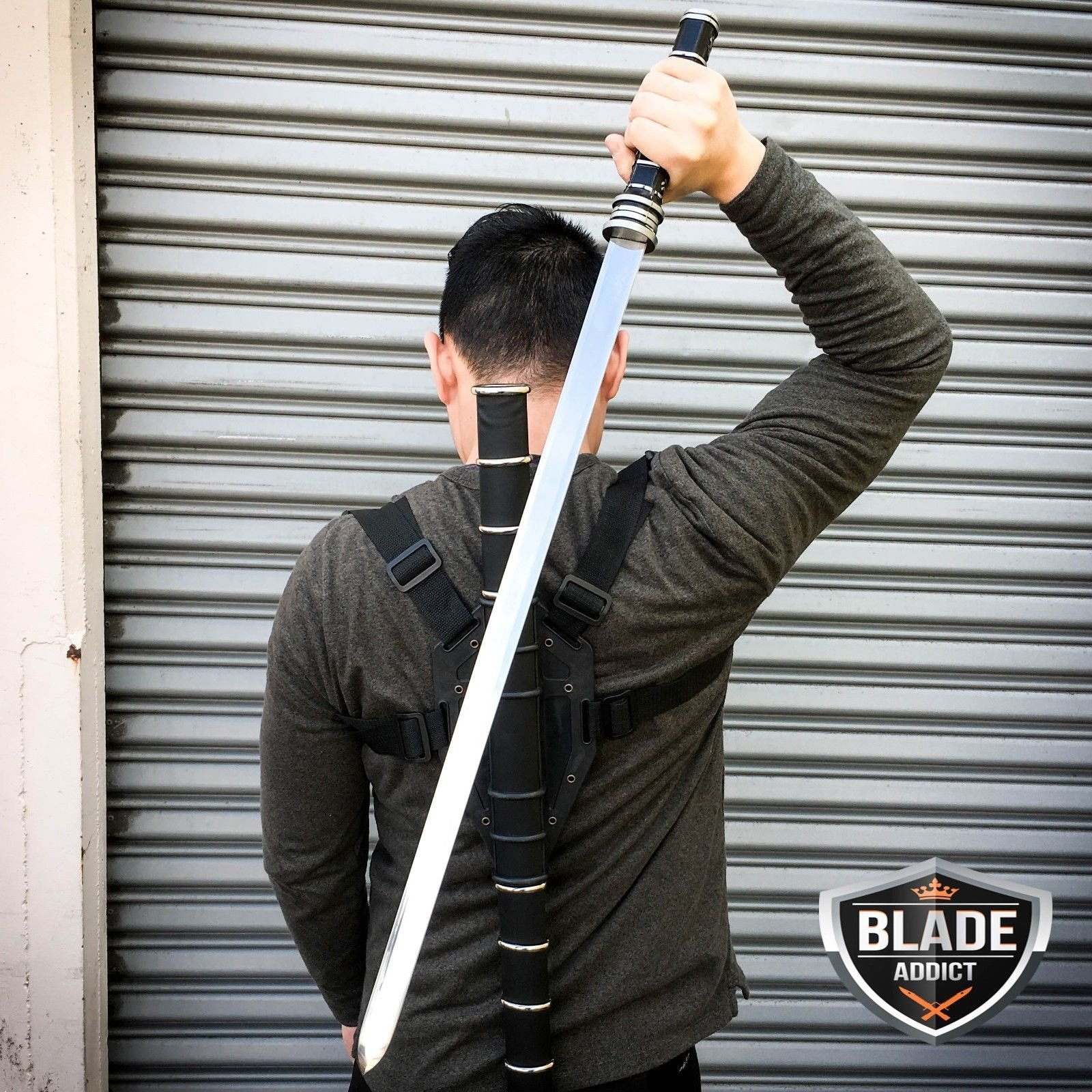 New BLADE SWORD OF THE DAYWALKER VAMPIRE SLAYER COSPLAY EcoGift Nice Knife with Sharp Blade + HARD SHEATH HARNESS- Great For Fun And Practical Use