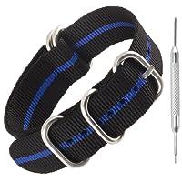 Nato in nylon resistente cinturini per orologi da cecchino Bay | stile militare Divers fasce | 20mm 22mm