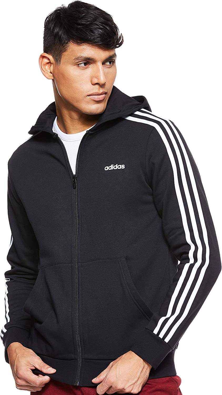 Veste à capuche junior femme adidas Essentials 3 Stripes