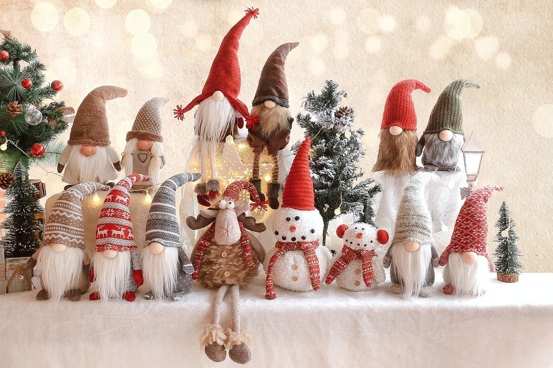 Amazon.com: LARLIFE Handmade Christmas Gnome Decoration Santa ...