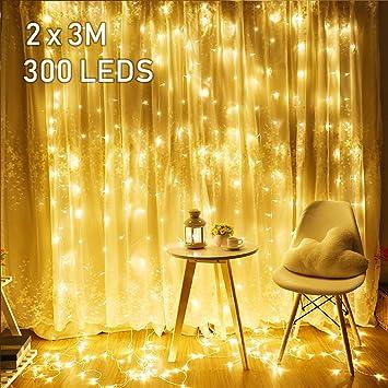 Avoalre 2mx3m Rideau Lumineux LED,Guirlande Lumineuses Rideau 300 ...