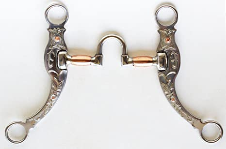 Horse STAINLESS STEEL Brass Copper MOUTH D-RING SNAFFLE  BIT 35552