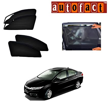 Autofact Car Accessories Zipper Magnetic Sunshades For Honda City Ivtec (  2009   2013 )