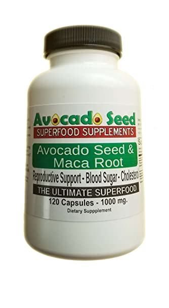 120 Avocado Seed with Maca Root Capsules (1000 mg) - The Ultimate  Supplement for