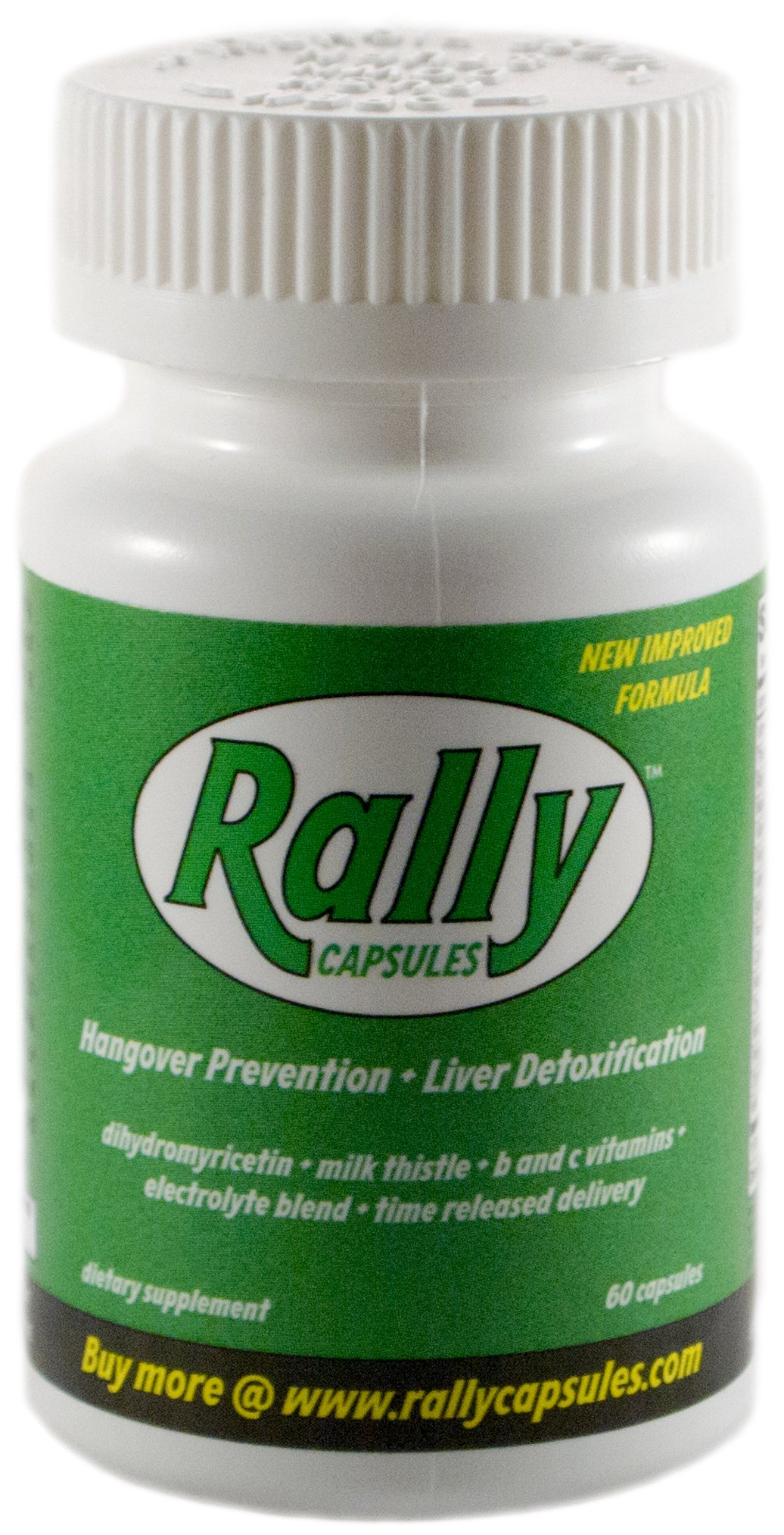 Rally for Hangovers (60 Capsules) | with Dihydromyricetin, Milk Thistle, and Electrolytes | 100% Money Back Guarentee