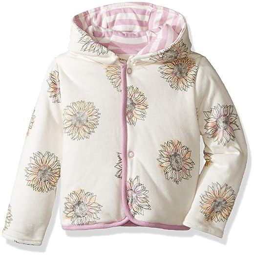 38b229350 Amazon.com: Burt's Bees Baby Baby Girls' Watercolor Sunflower Jacket ...