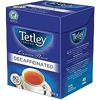 Tetley's Rich, Full - Flavoured, Decaffeinated, 100% Rainforest Alliance and Kosher Certified Orange Pekoe (Black) Tea…