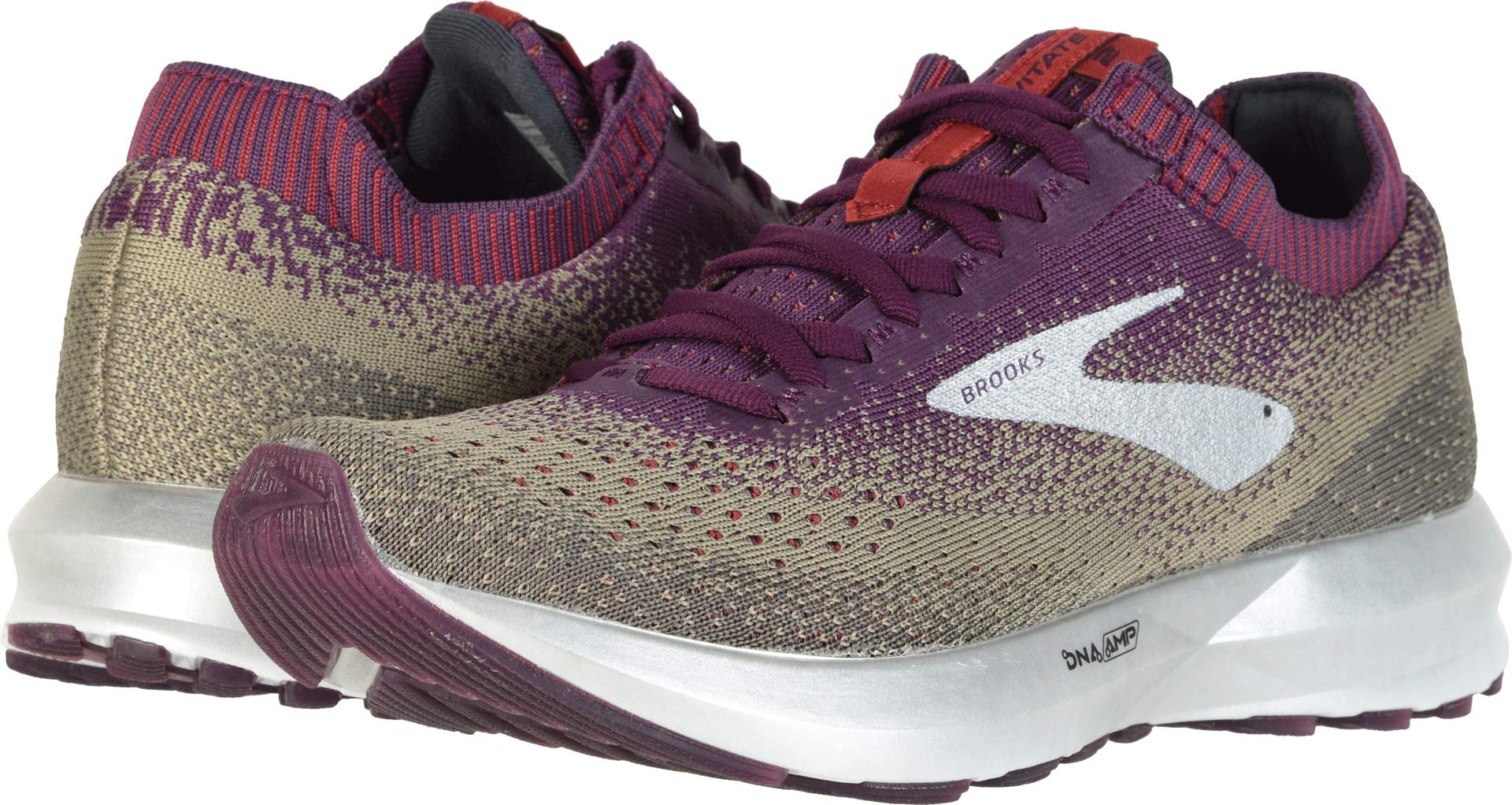 Brooks Women's Levitate 2 Cashmere/Bloom/Silver 9.5 B US by Brooks