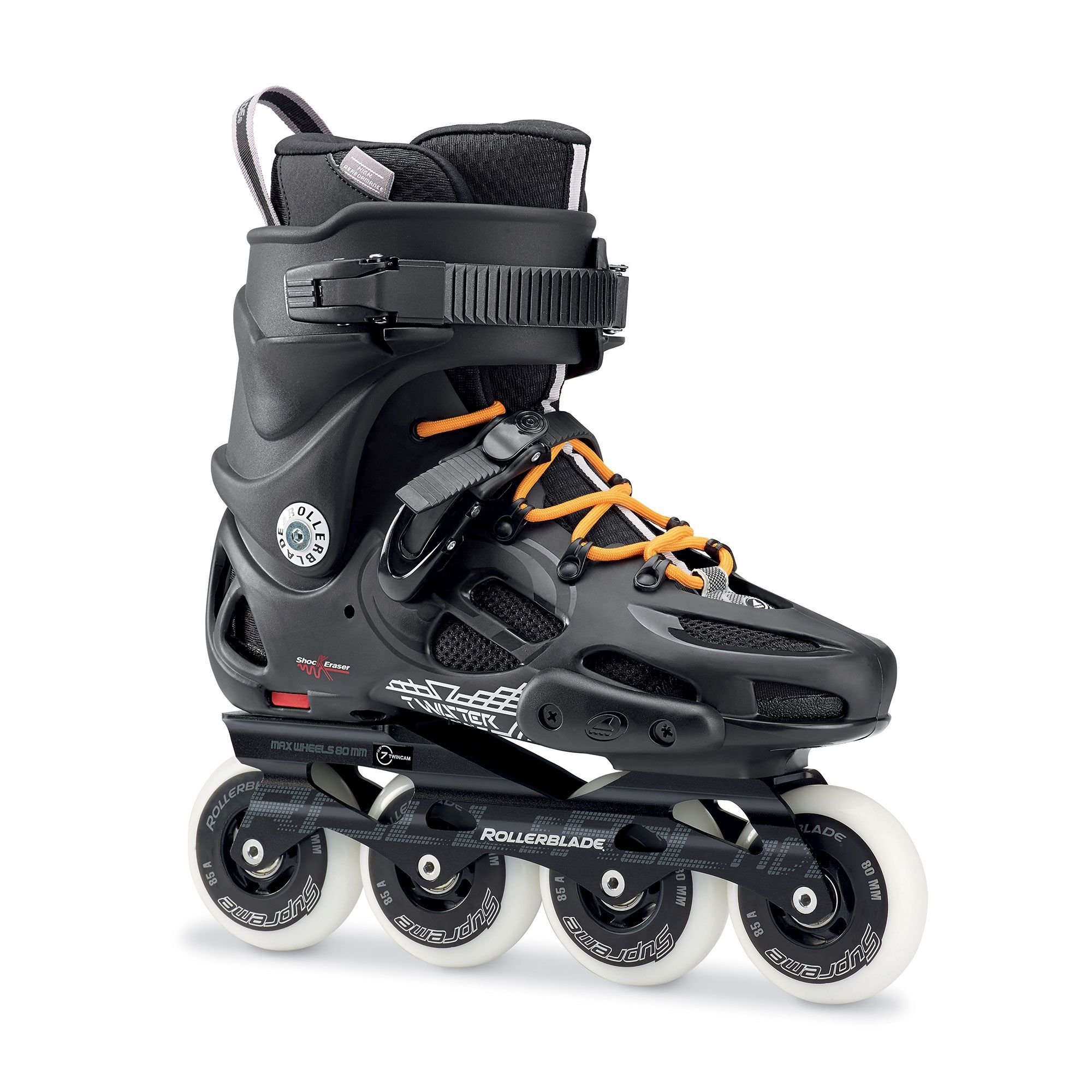 Rollerblade Men's Twister 80 Skates Black 28.5 & Headband Bundle