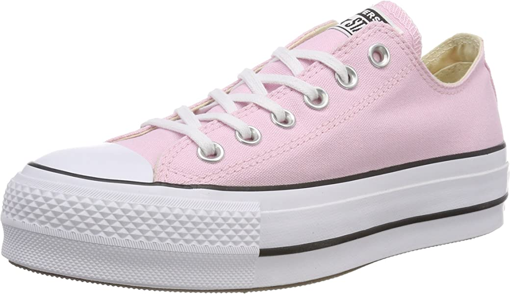 c51aacd0aade Converse Women s CTAS Lift OX Cherry Blossom White Black Trainers ...