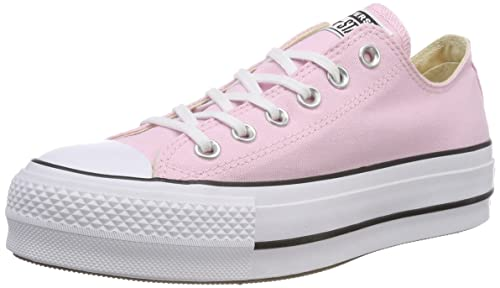 Converse CTAS Lift Ox Cherry Blossom/White/Black, Zapatillas para Mujer: Amazon.es: Zapatos y complementos