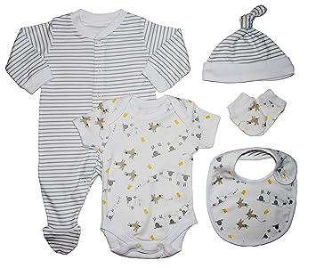 5pc Unisex Gift Set Baby Clothes Newborn Amazon Co Uk Baby