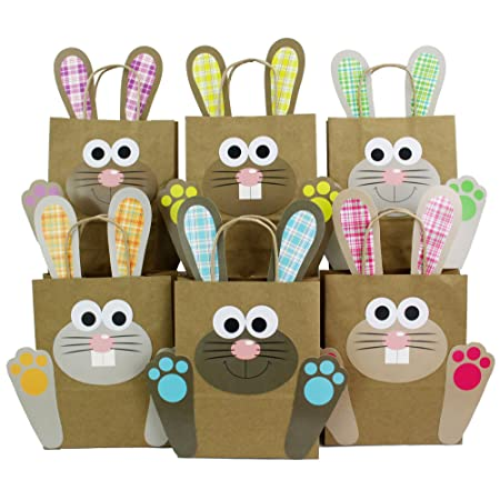 Papierdrachen diy xxl easter bunny bags with handles colourful gift bags for easter to fill yourself for packing gifts for children and adults papierdrachen diy xxl easter bunny bags with handles colourful gift bags for easter to fill negle Choice Image