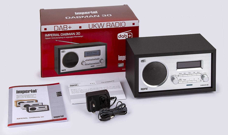 Imperial Dabman 30 Digitalradio Dab Dab Ukw Aux In Inkl Netzteil Schwarz Heimkino Tv Video