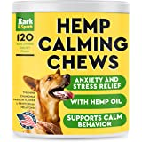 Calming Hemp Treats for Dogs - Made in USA with Hemp Oil - Anxiety Relief - Separation Aid - Stress Relief During Fireworks,