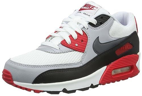 best service 9f473 45050 Nike Air MAX 90 Essential, Zapatillas de Running para Hombre, BlancoGris