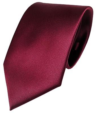 b6dbf86e78d92 TigerTie Designer satin cravate rouge bordeaux unicolor Polyester ...