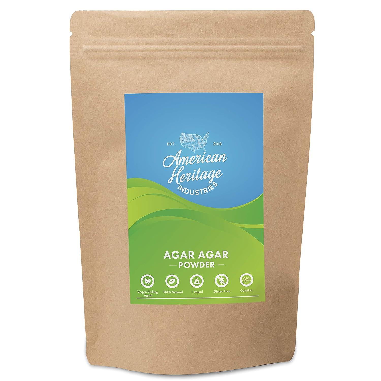 Agar Agar Powder, Vegan Cheese Powder and Vegan Gelling Agent, 16 OZ by American Heritage Industries…