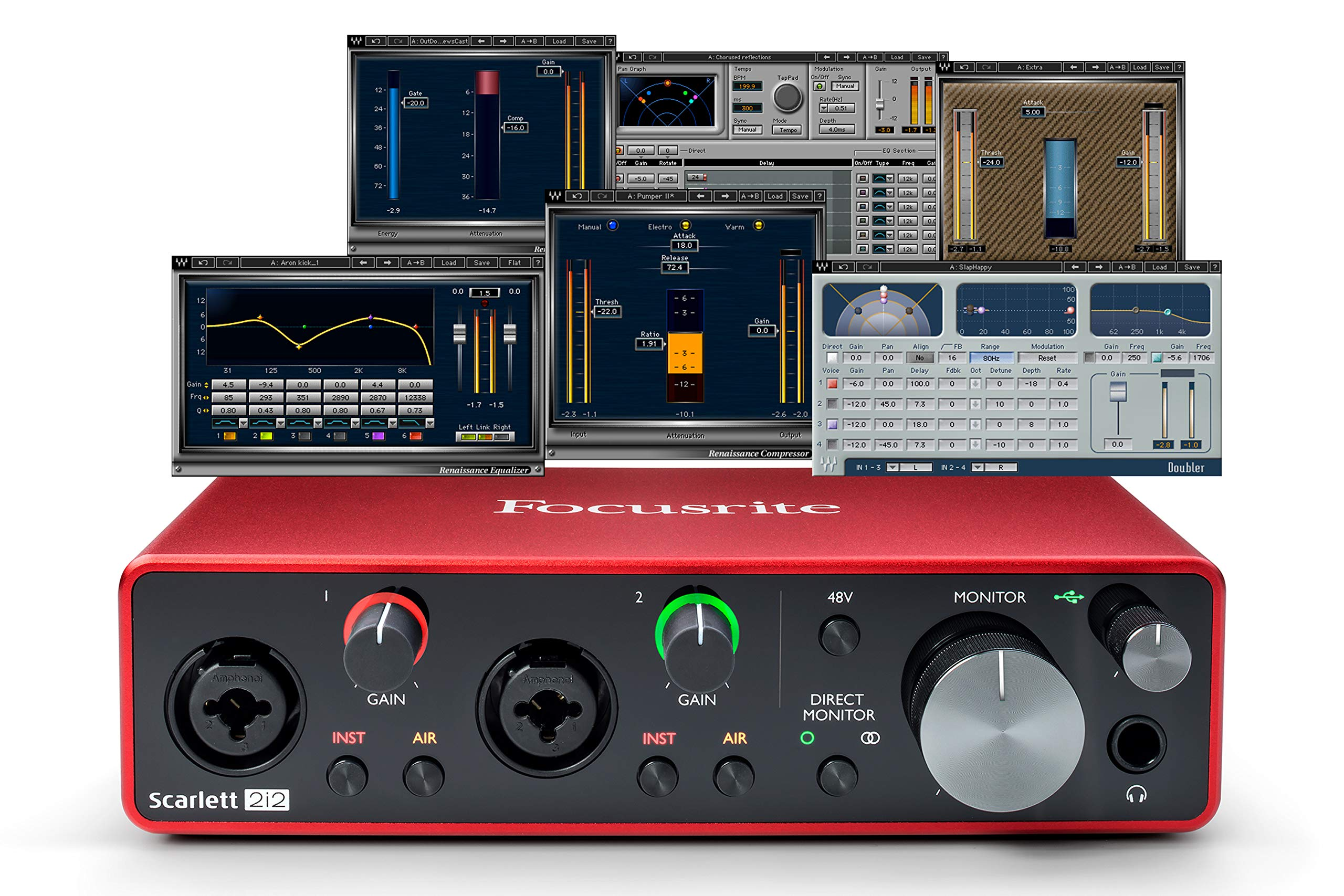 Focusrite 2i2 (3ra Gen)  interfaz de audio USB más Waves ...