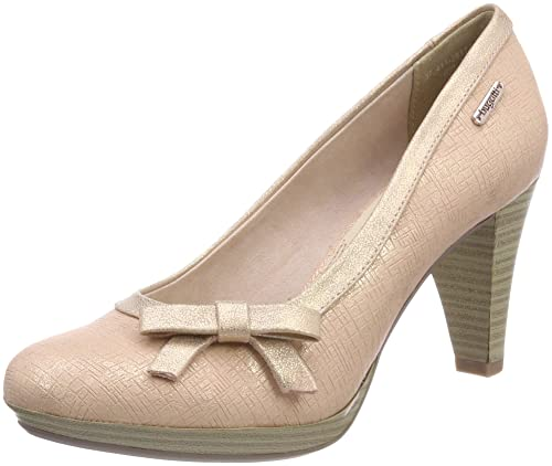 Womens 412281745900 Closed Toe Heels, Brown (Taupe) Bugatti
