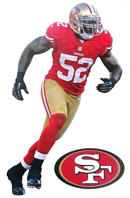 reputable site 97764 511b2 FATHEAD Patrick Willis Mini San Francisco 49ers Logo Official NFL Vinyl  Wall Graphic 7