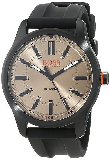 85fda00ae8d5 Hugo Boss Orange Reloj Análogo clásico para Hombre de Cuarzo con Correa en  Silicona 1550045  Amazon.es  Relojes