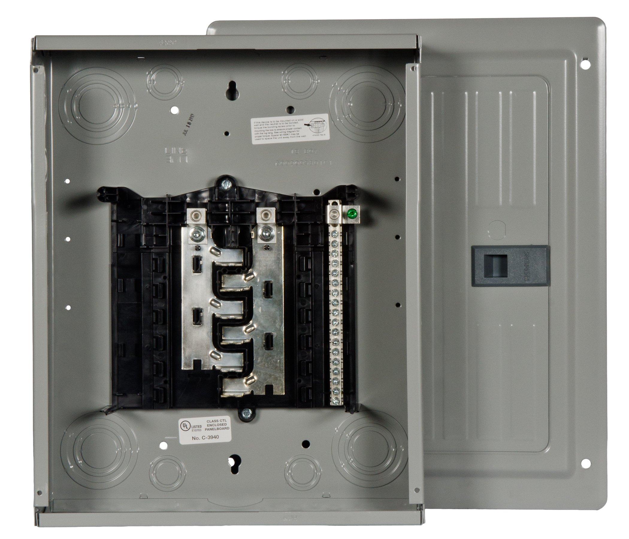 Siemens 12 Space, 24, Circuit, 125 Amp, Main Lug, Indoor Load Center