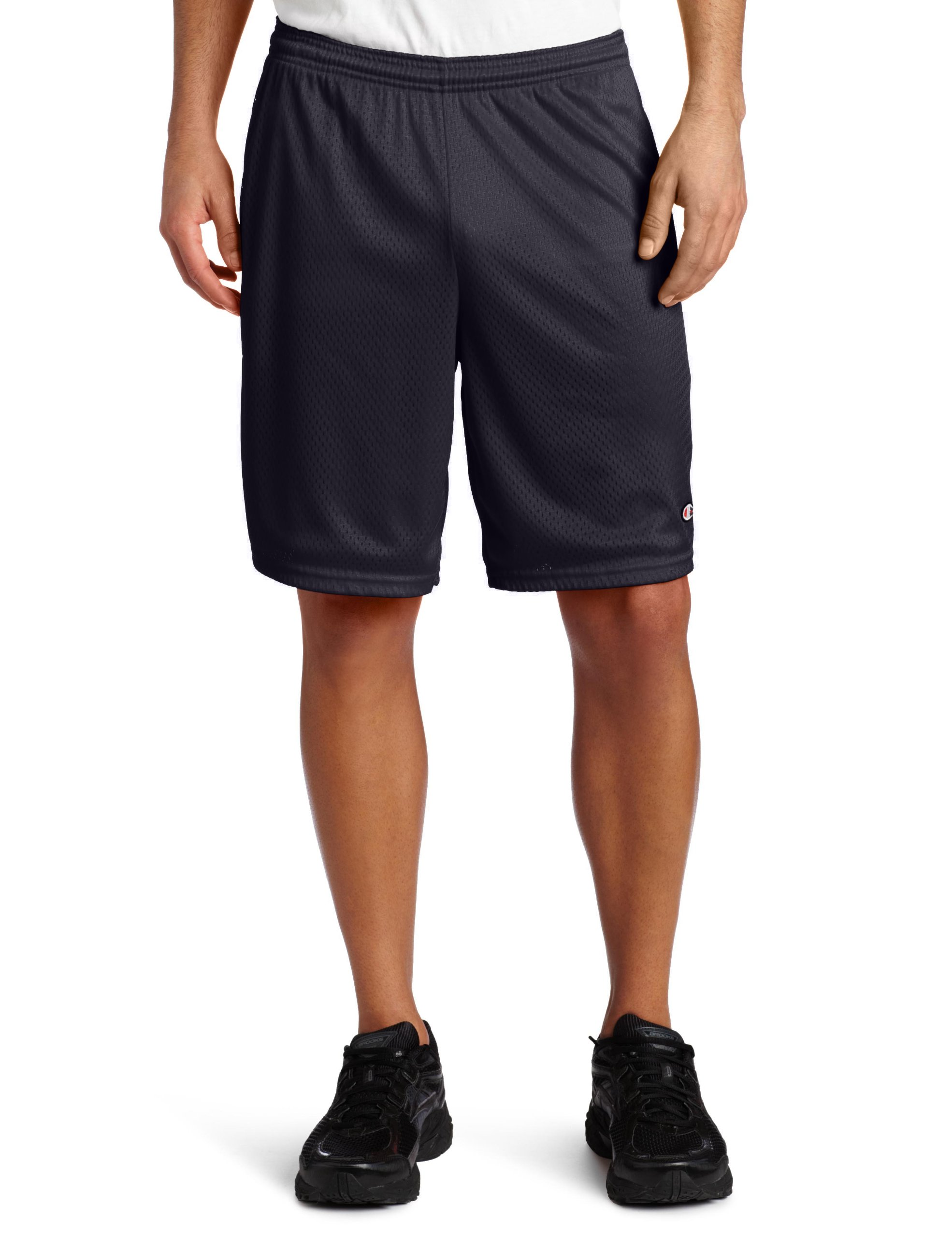 Champion Men's Long Mesh Short With Pockets,Navy,SMALL
