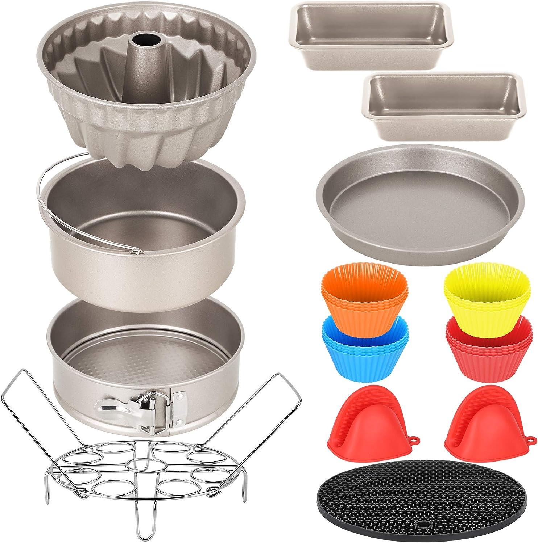 Esjay Cake Pan Set for Instant Pot 6, 8Qt, Ninja Foodi 6.5, 8Qt, Air Fryer Accessories