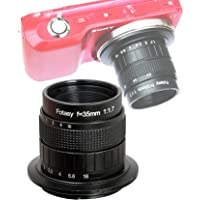 Fotasy 35MM F1.7 Lens for Sony E-Mount Camera, Multi Coated Manual E-mount Lens fits Sony NEX-5R NEX6 NEX7 a3100 a51000 a6000 a6100 a63000 a6400 a6500