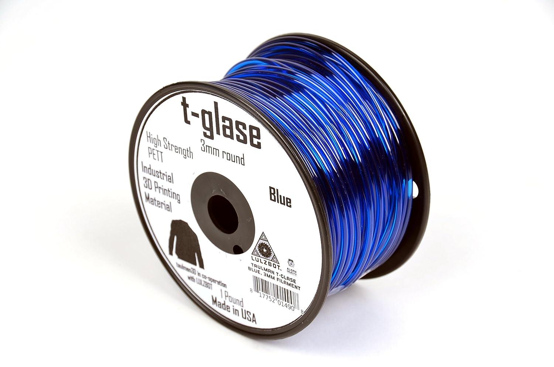 LulzBot Taulman T-Glase Pet 3D Printer Filament 1 lb Reel 3 mm Blue